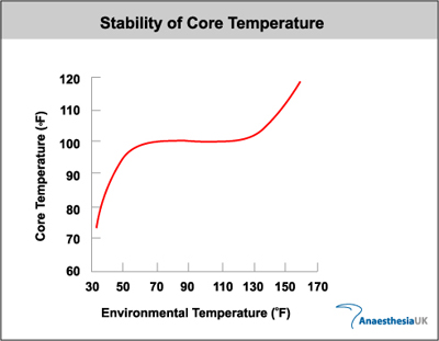 Stability of core temperature