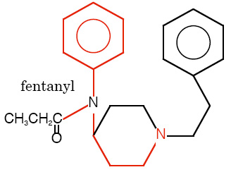 Image result for fentanyl chemical structure
